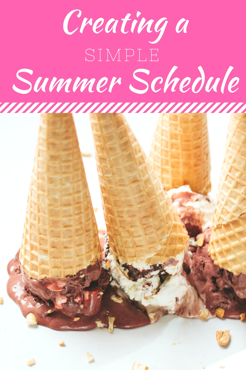 Creating a Simple Summer Activity Schedule