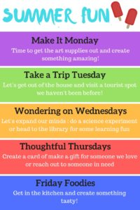 Daily Fun for Simple Summer Activity Schedule